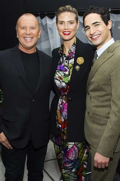 michael-kors-heidi-klum-and-zac-posen-pose-before-the-fall-2013-project-runway-fashion-show
