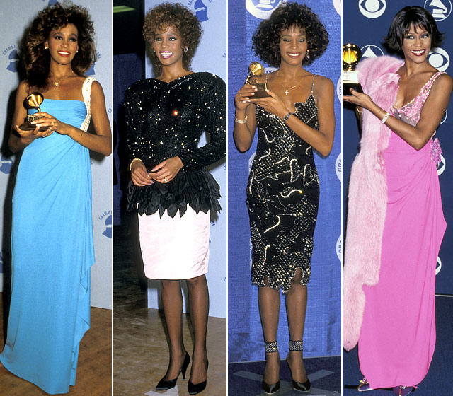 whitney-houston-grammy-looks