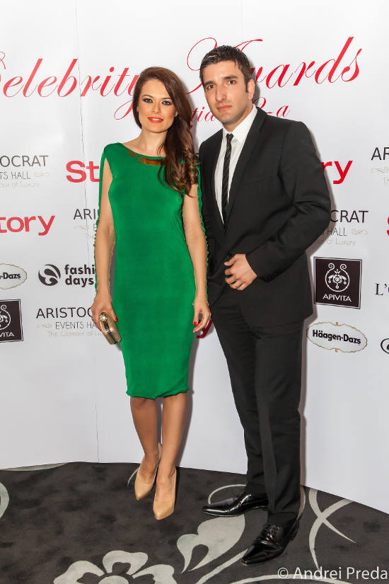 Raluca Lazarut Silviu Biris Celebrity Awards 2013