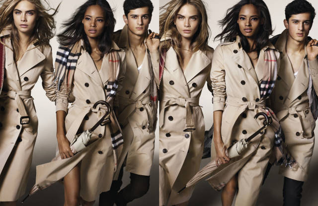 Burberry-Cara Delevingne, Malaika Firth and Tarun Nijjer featuring in theBurberry Autumn_Winter 2014 Campaign (strictly on embargo until Tuesday 10 June 2014)