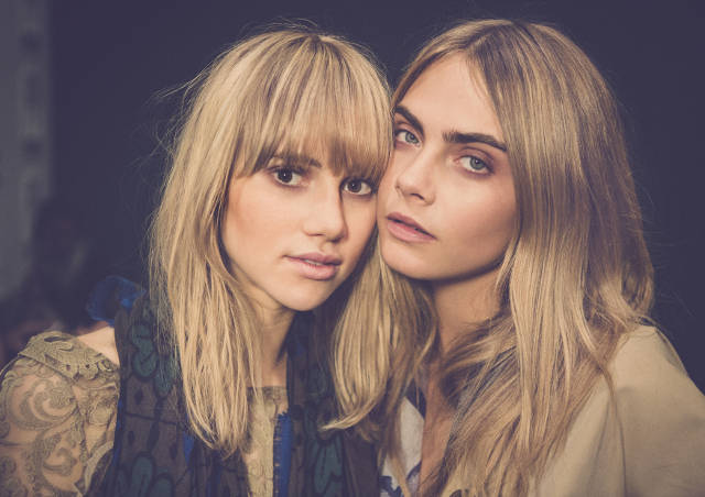 Burberry brings London to Shanghai - Suki Waterhouse and Cara Delevingne backstage at the event