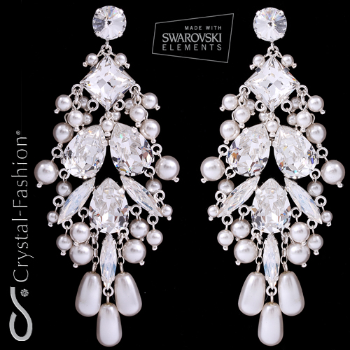 Ramona Chandelier Earrings Crystal-FAshion