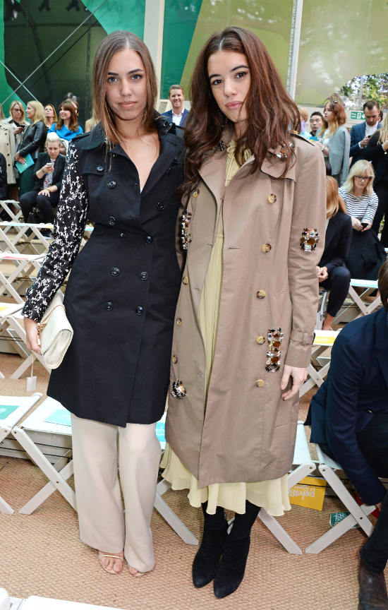Amber Le Bon and Gala Gordon at the Burberry Prorsum Spring_Summer 2015 Show