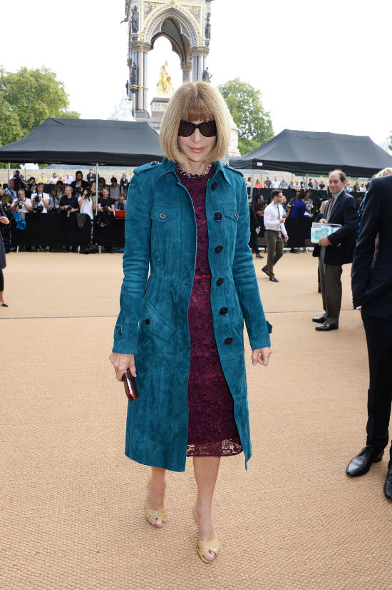 Anna Wintour wearing Burberry at the Burberry Prorsum Womenswear Spring_Summer 2015 Show