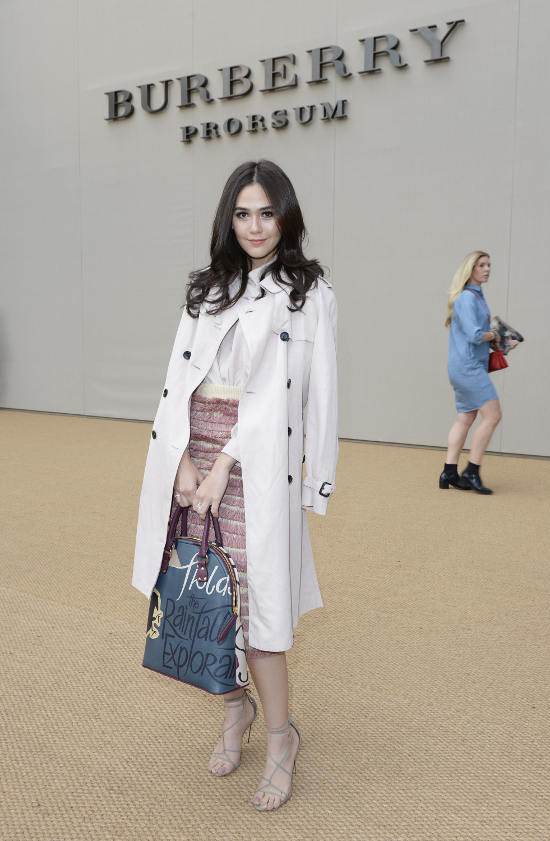 Araya A Hargate at the Burberry Prorsum Spring_Summer 2015 Show