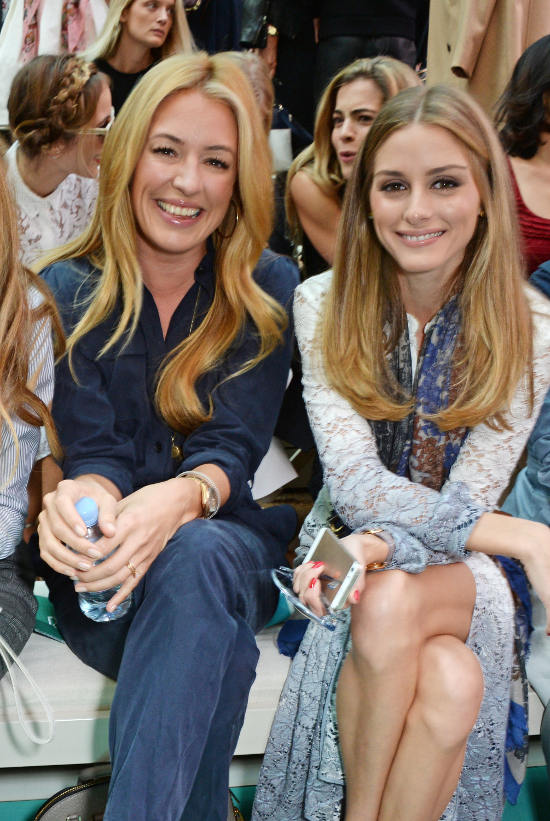 Cat Deeley and Olivia Palermo on the front row of the Burberry Prorsum Spring_Summer 2015 Show