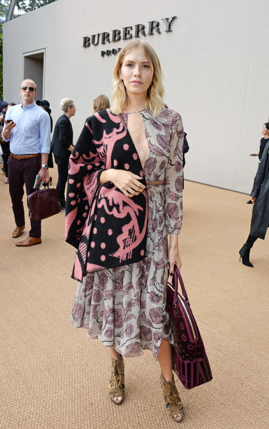 Elena Perminova at the Burberry Prorsum Spring_Summer 2015 Show