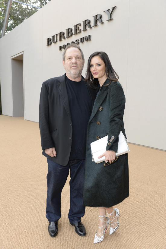 Harvey Weinstein and Georgina Chapman at the Burberry Prorsum Womenswear Spring_Summer 2015 Show