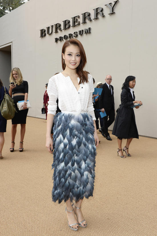 Joey Yung at the Burberry Prorsum Spring_Summer 2015 Show