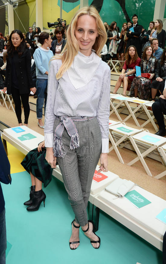 Lauren Santo Domingo at the Burberry Prorsum Spring_Summer 2015 Show