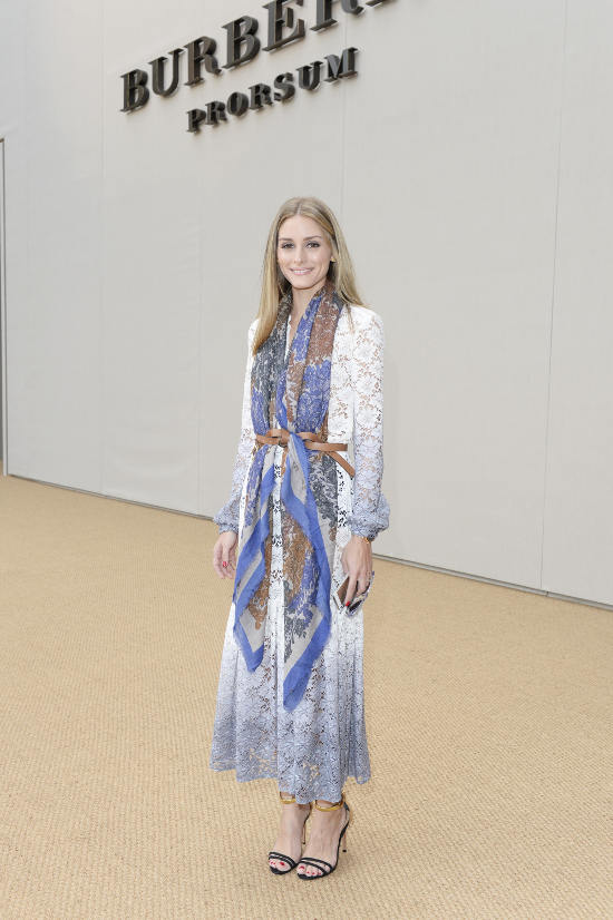 Olivia Palermo wearing Burberry at the Burberry Prorsum Womenswear Spring_Summer 2015 Show