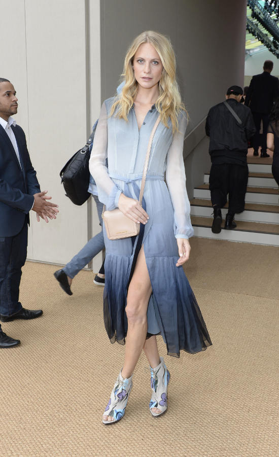 Poppy Delevingne wearing Burberry at the Burberry Prorsum Womenswear Spring_Summer 2015 Show