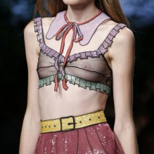 Trompe l'oeil and transparent on the runway at Gucci.