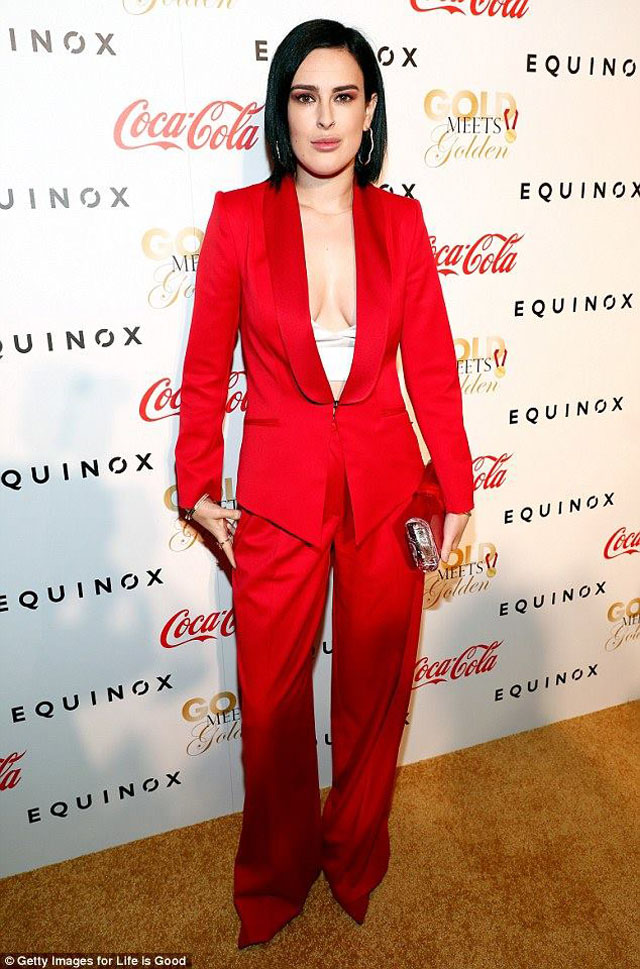 rumer-willis-styland-red-suit-gold-meets-golden-2017